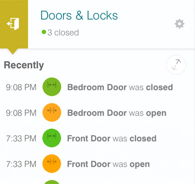 SmartThings Doors and Locks Dashboard