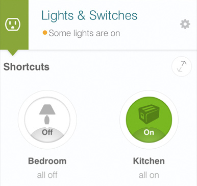SmartThings Ligthing Dashboard