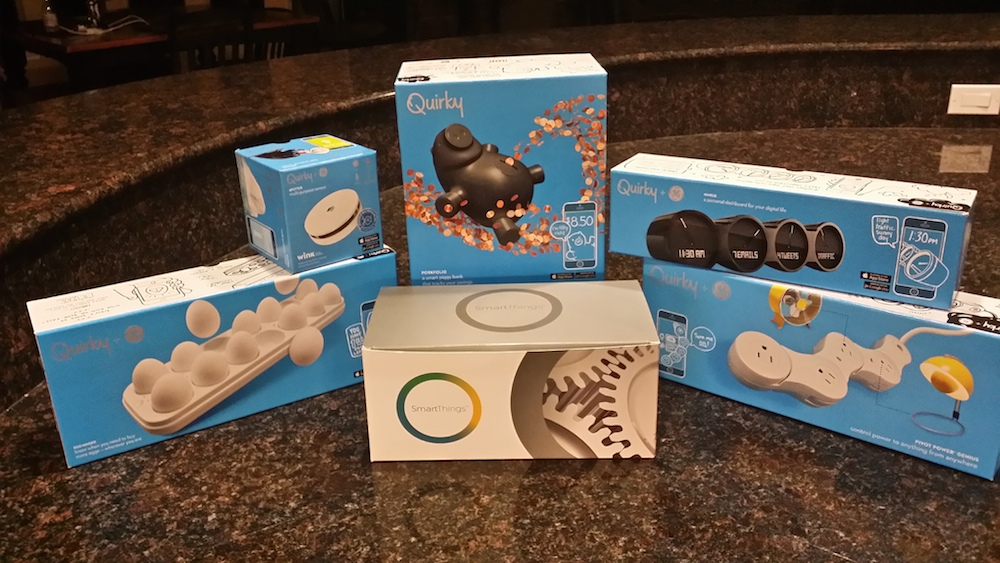 quirky and smartthings boxes